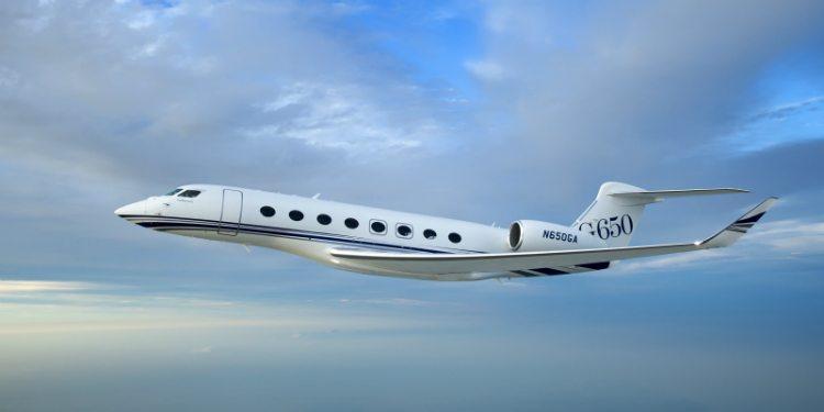 Gulfstream G650 flying