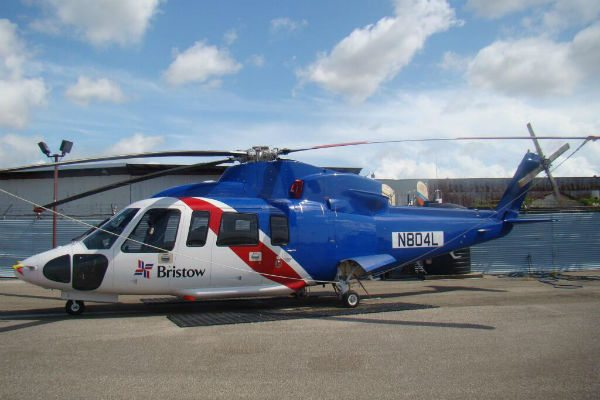 A helicopter operated by the Bristow Group.