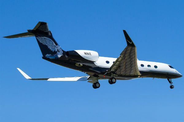 Nike's Gulfstream G650 (Photo: Russell Hill).