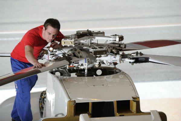 Sikorsky S76B maintenance at RUAG Aviation Alpnach