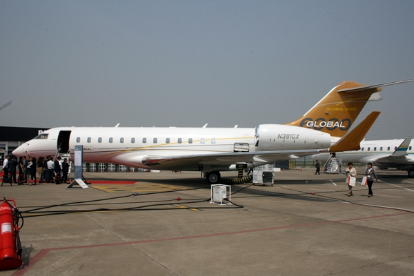 Bombardier displayed this Global 6000 at ABACE 2013 (Photo: Alud Davies)