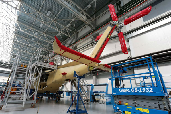 AgustaWestland AW139 on the HeliVert production line