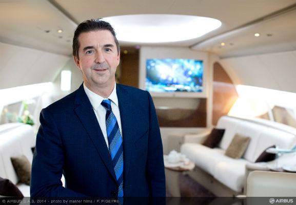 Benoit Defforge, managing director of Airbus Corporate Jet