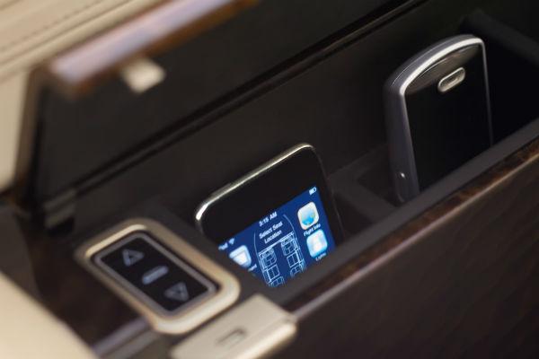 handset of the Gulfstream cabin management system